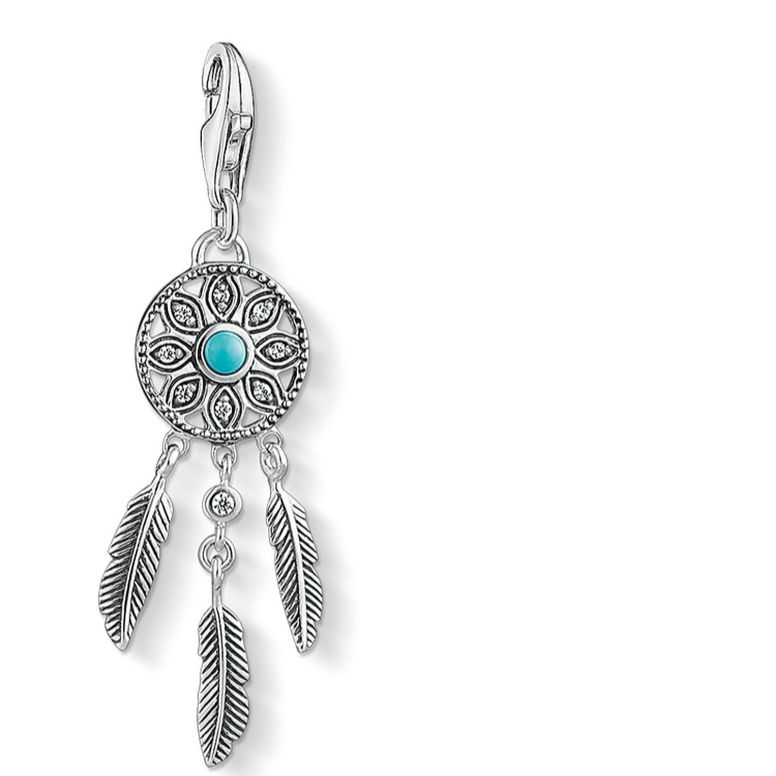 d27f3e170 Thomas Sabo Charm Club Dreamcatcher Charm Sterling Silver - QVC UK