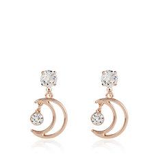 Bibi Bijoux Half Moon Crystal Earrings