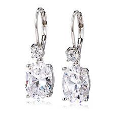 Elizabeth Taylor 9ctw Simulated Gemstone Drop Earrings