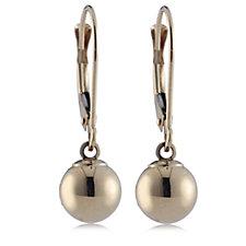9ct Gold 7mm Ball Drop Leverback Earrings