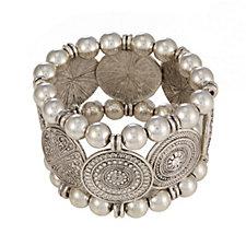 Bibi Bijoux Statement Coin Stretch Bracelet