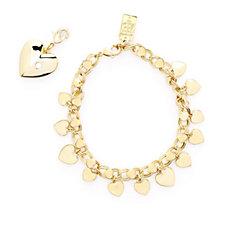 Elizabeth Taylor Charm Bracelet with Heart Charm