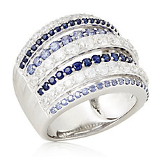 340883 - Diamonique 2.3ct tw Simulated Gemstone Band Ring Sterling Silver