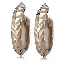 9ct Gold Diamond Cut Huggie Hoop Earrings