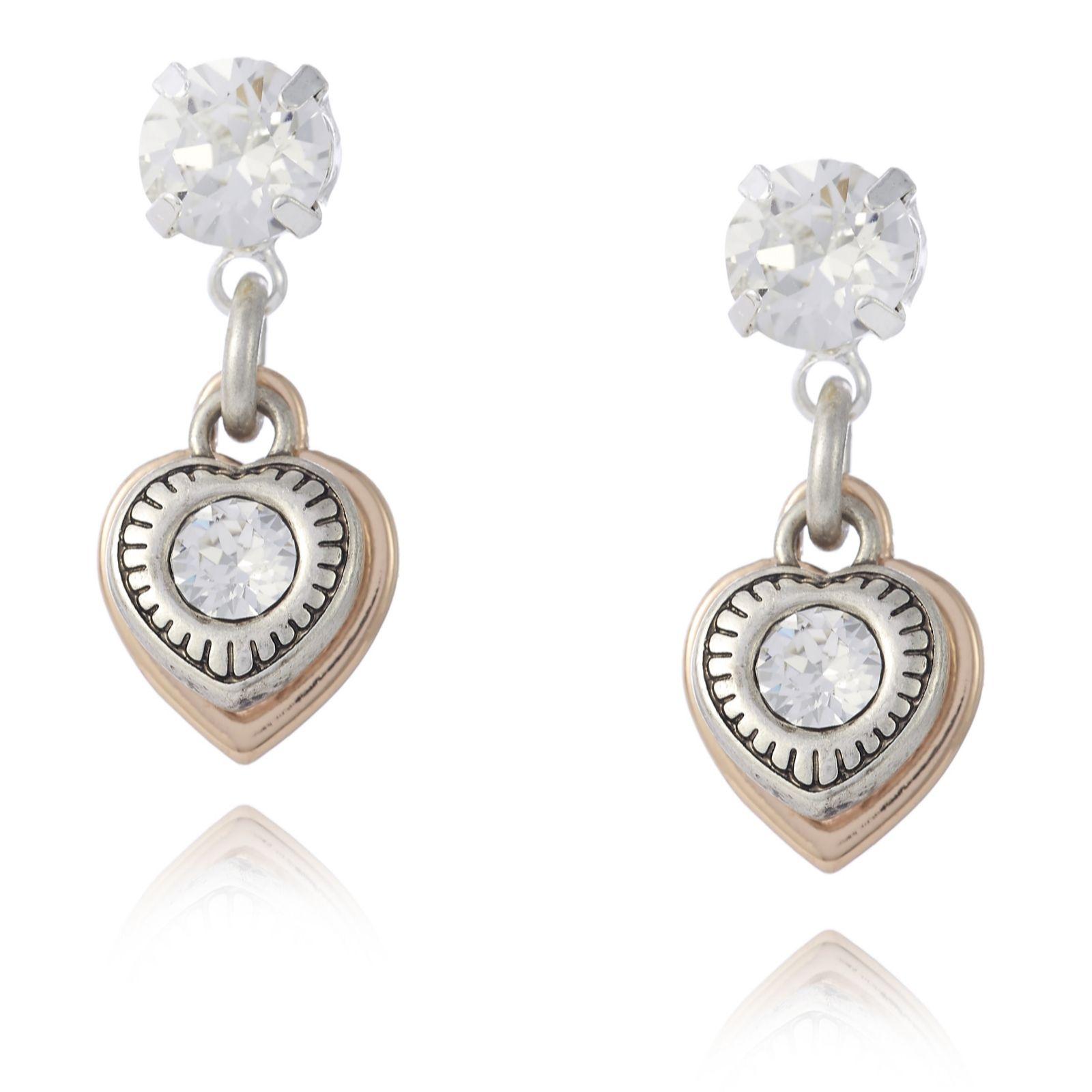 Molton Brown Bath And Shower Bibi Bijoux Crystal Heart Charm Earrings Qvc Uk