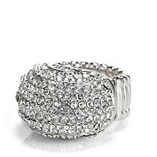 Loverocks Crystal Dome Stretch Ring