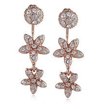 Loverocks Crystal Stud & Flower Drop Earrings