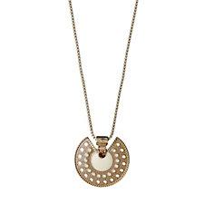 Pilgrim Crystal & Enamel Tribal Design Pendant 40cm Necklace