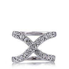Loverocks Crystal Kiss Ring