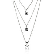 Loverocks Crystal Layer Chain 41cm Necklace