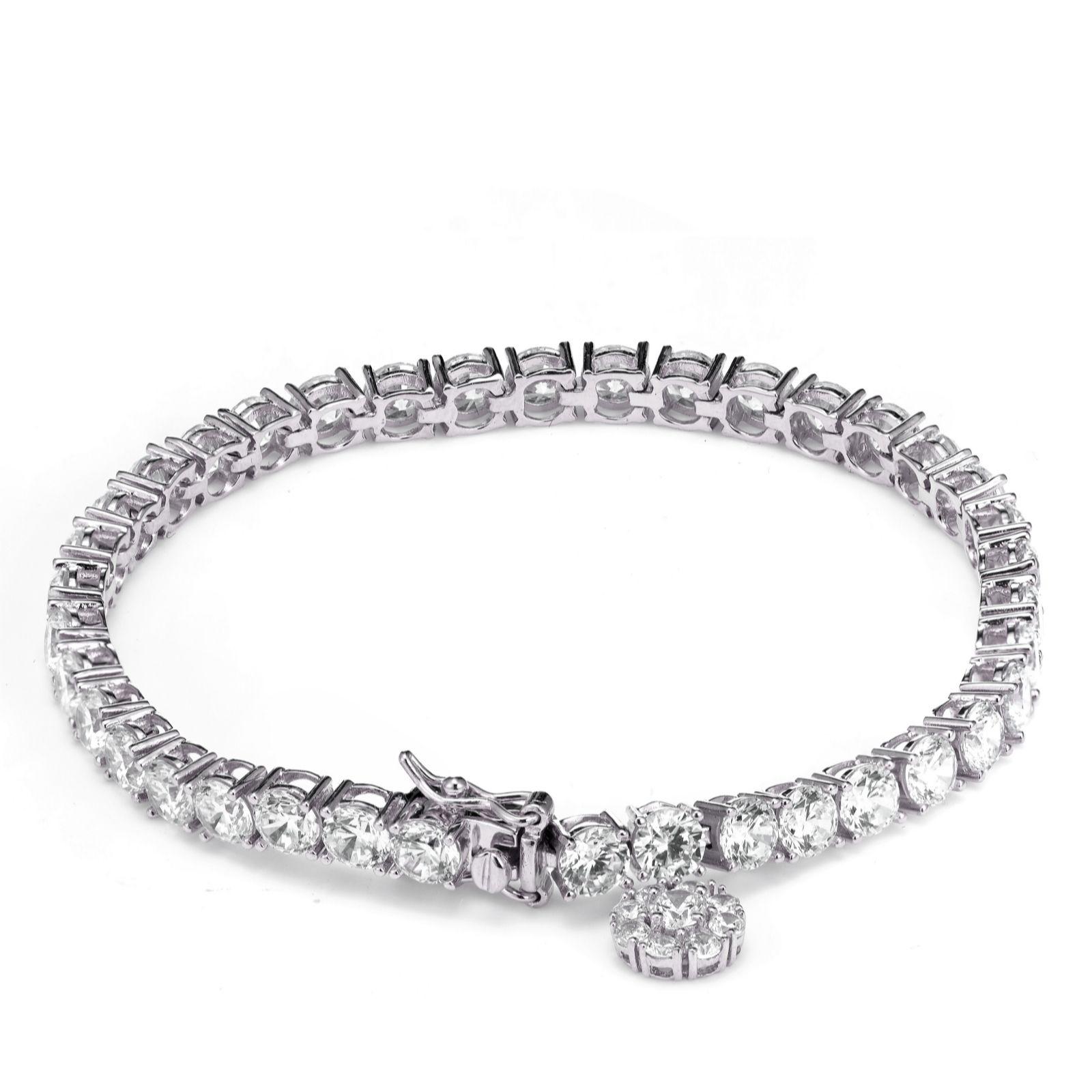 Tennis Charm Bracelet: Michelle Mone For Diamonique 13ct Tw Charm Tennis Bracelet
