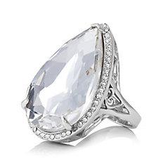 Loverocks Crystal Dress Ring