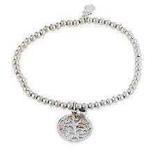 Clogau 9ct Rose Gold & Sterling Silver 21st Anniversary Iolite Bracelet