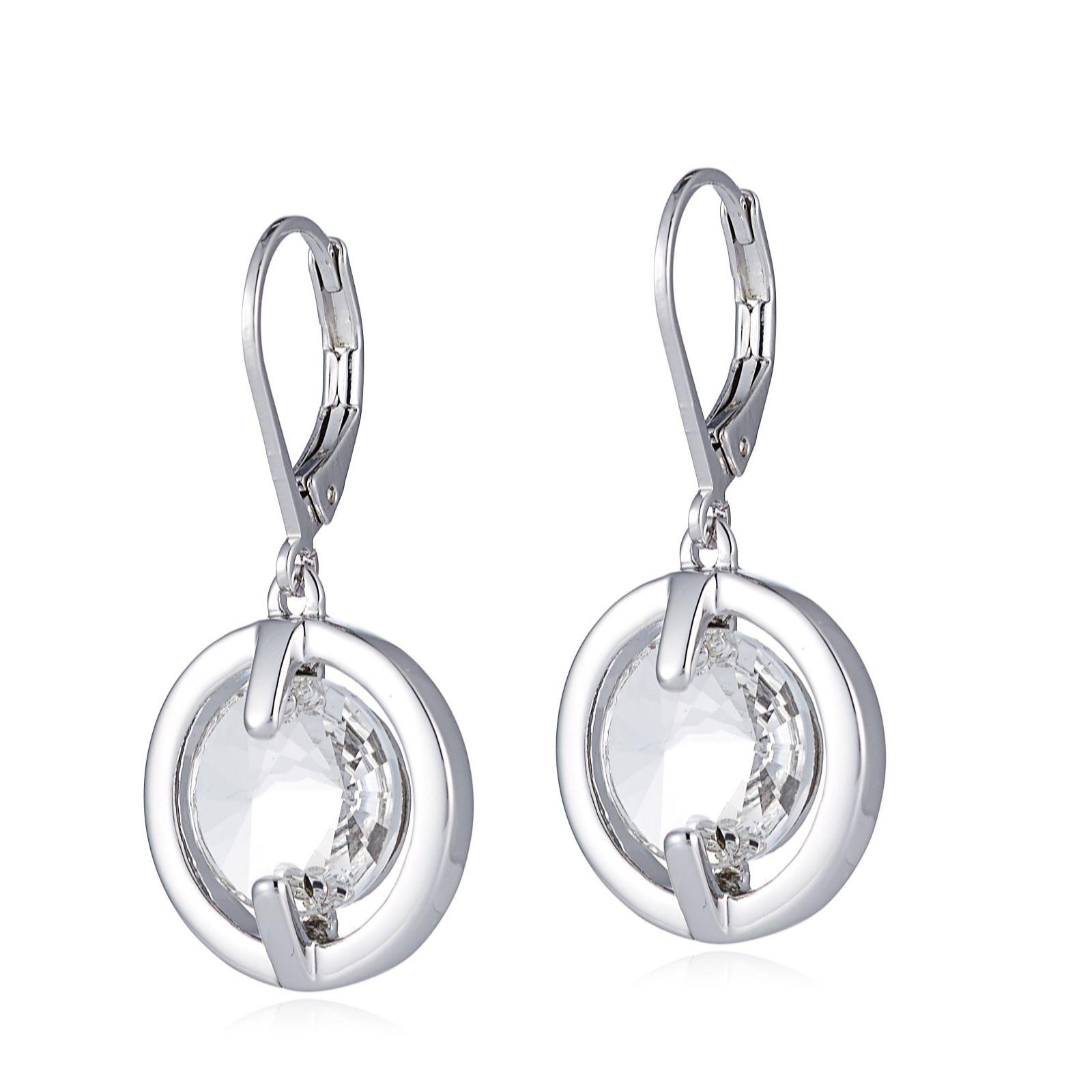 57204c068 Outlet Aurora Swarovski Crystal Lever Back Drop Earrings - QVC UK
