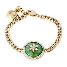 Butler & Wilson Jade Circle Flower Bracelet