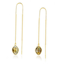 K by Kelly Hoppen Capri Collection Gemstone Threader Earrings Sterling Silver