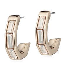 Aurora Swarovski Crystal Baguette Half Hoop Earrings