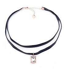 Loverocks Crystal Drop Choker 33cm Necklace