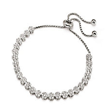 Folli Follie Fashionably Silver Flower Blossom Bracelet