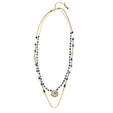 Lonna & Lilly 2 in 1 Glass Bead Pendant 92cm Necklace