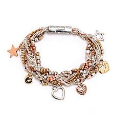 Bibi Bijoux Multi Strand Charm Bracelet