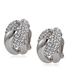 Frank Usher Crystal Knot Clip On Earrings