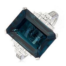 7.00ct-8.00ct Choice of Gemstone & 0.24ct Diamond Ring 14ct Gold