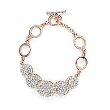 Loverocks Pave Crystal Disc Bracelet