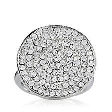 loveRocks Crystal Pave Disc Ring