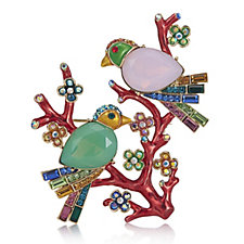 Butler & Wilson Two Crystal Birds on a Branch Brooch