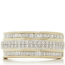 0.75ct Diamond Mixed Cut Band Ring 9ct Gold