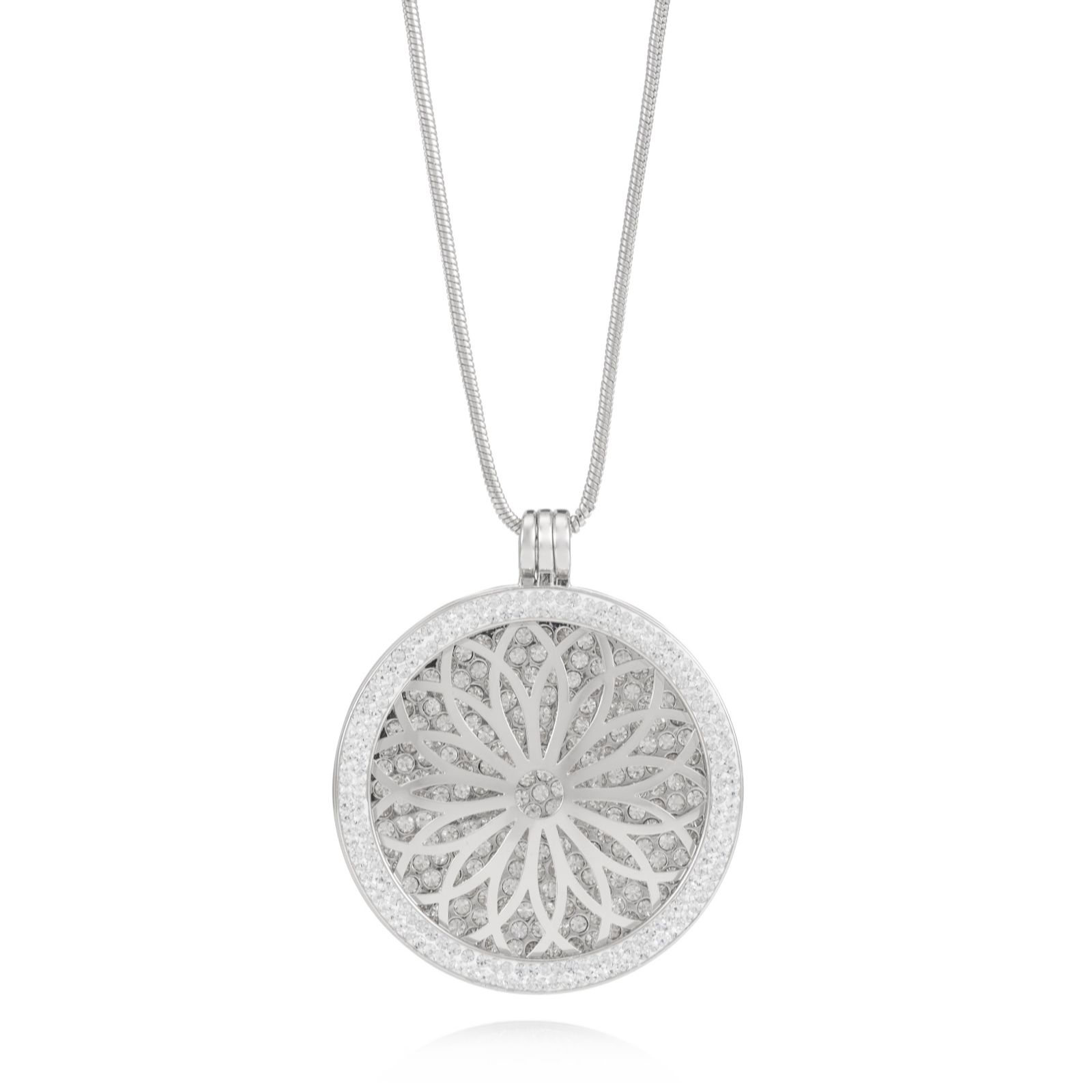 Interchangeable Disc Necklace: Outlet Frank Usher Crystal Interchangeable Disc 80cm