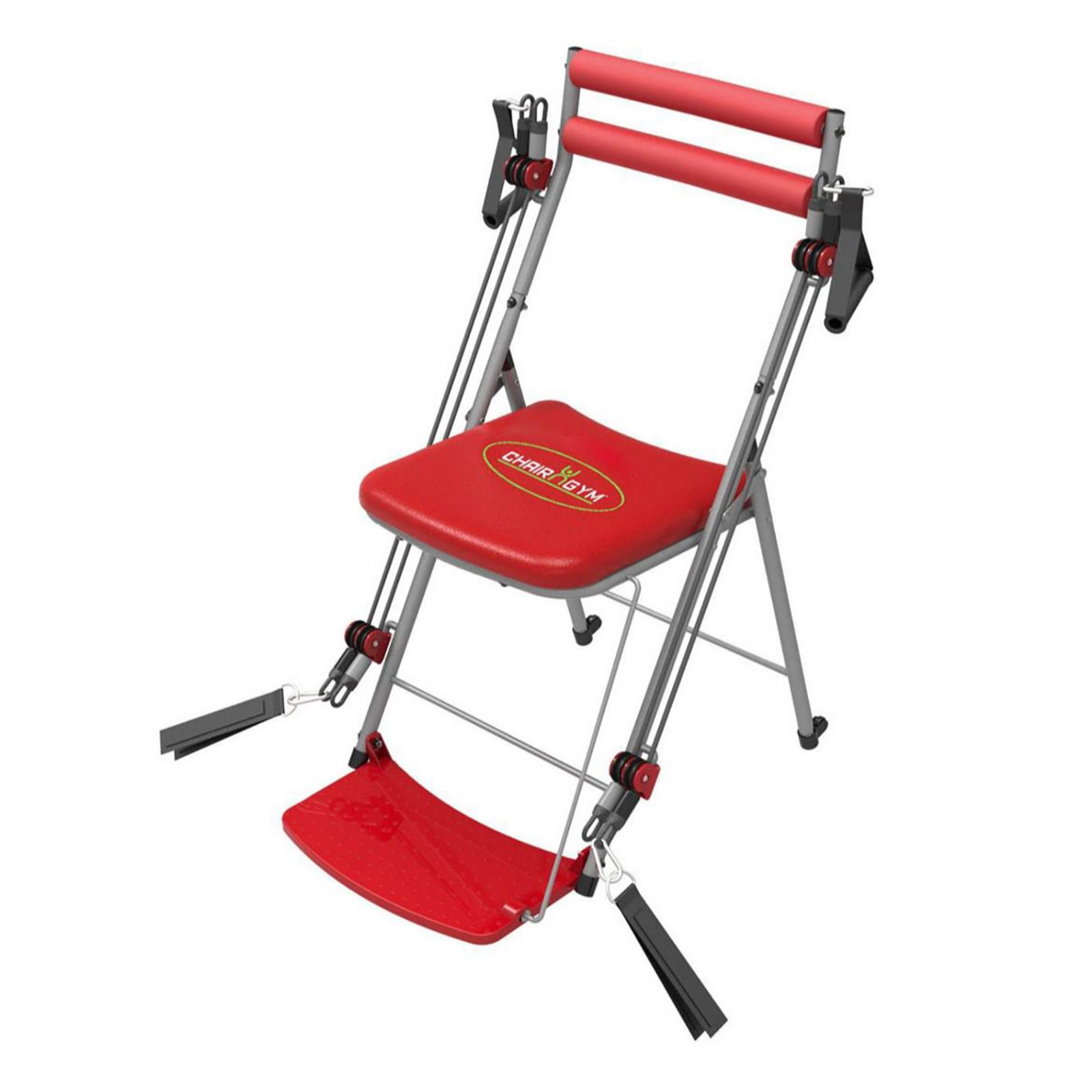 Pleasing Chair Gym Total Body Exercise System With Twister Seat 5 Dvds Qvc Uk Ncnpc Chair Design For Home Ncnpcorg
