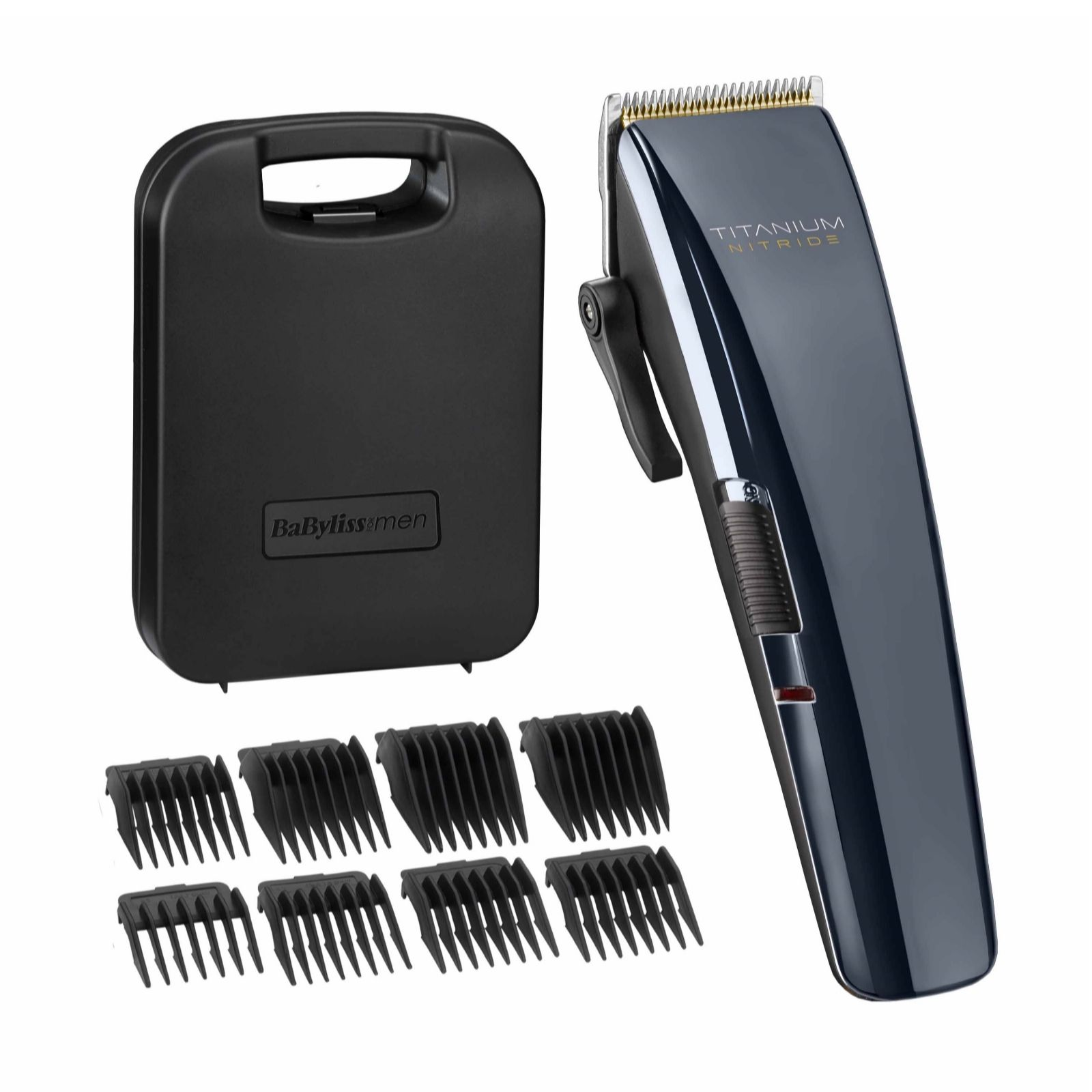 Babyliss For Men Titanium Nitride Hair Clippers Set 7471u Qvc Uk