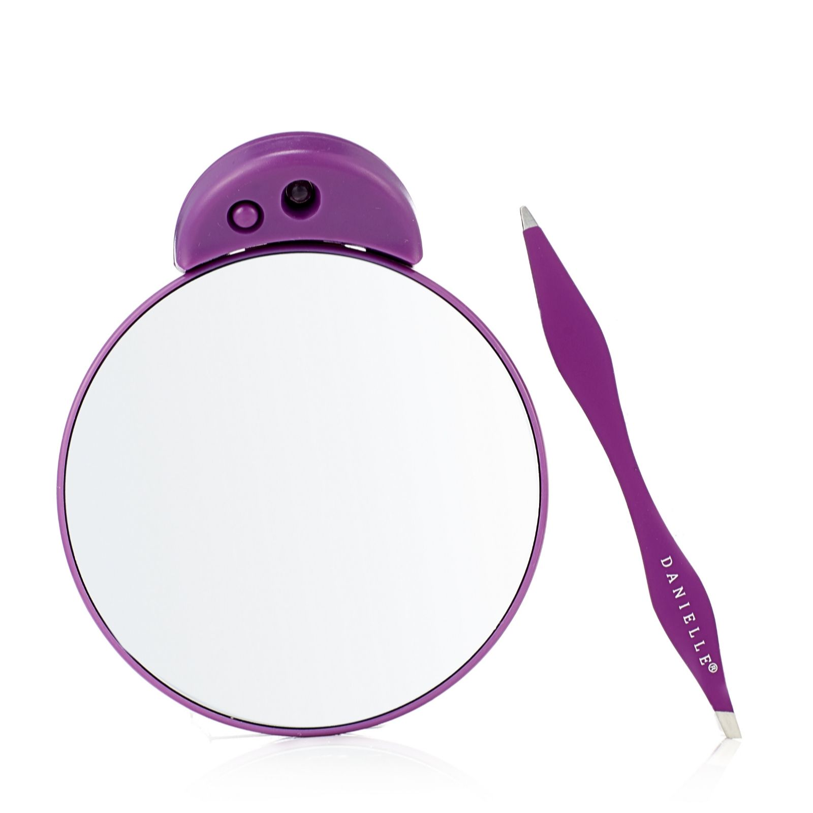 Danielle Creations Dual Tip Tweezer Led Compact Mirror Qvc Uk