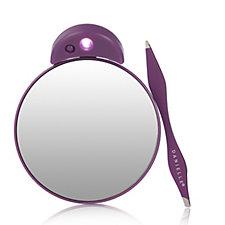 Danielle Creations Dual Tip Tweezer & LED Compact Mirror