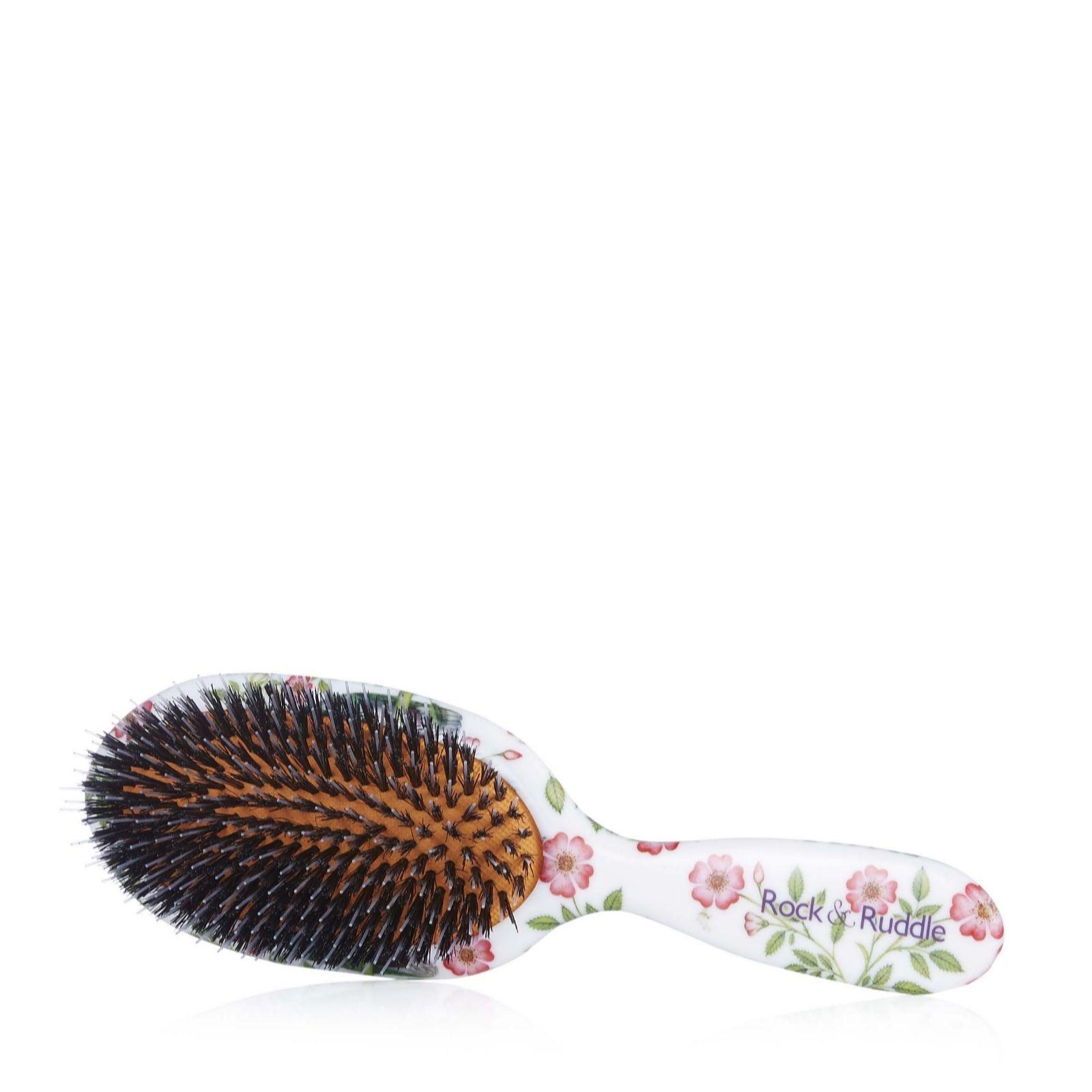 Rock & Ruddle Feather Friends Mixed Bristle Hairbrush - QVC UK