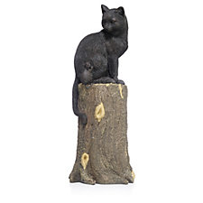 Plow & Hearth Cat & Mouse On Stump Lawn Ornament