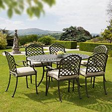 Sun Time 7 Piece Buckingham Garden Dining Set