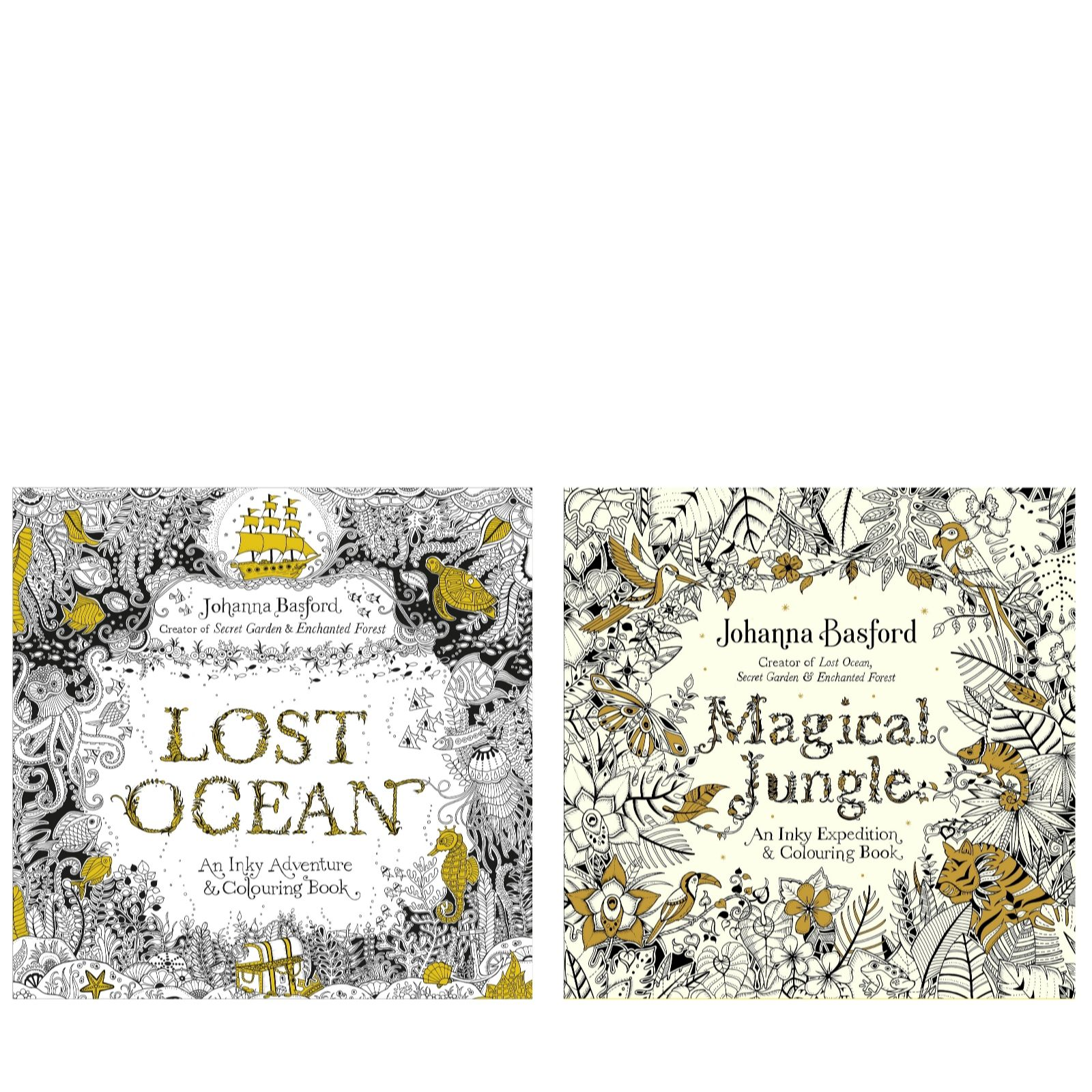 Johanna Basford Lost Ocean Magical Jungle Colouring Books