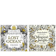 Johanna Basford Lost Ocean & Magical Jungle Colouring Books