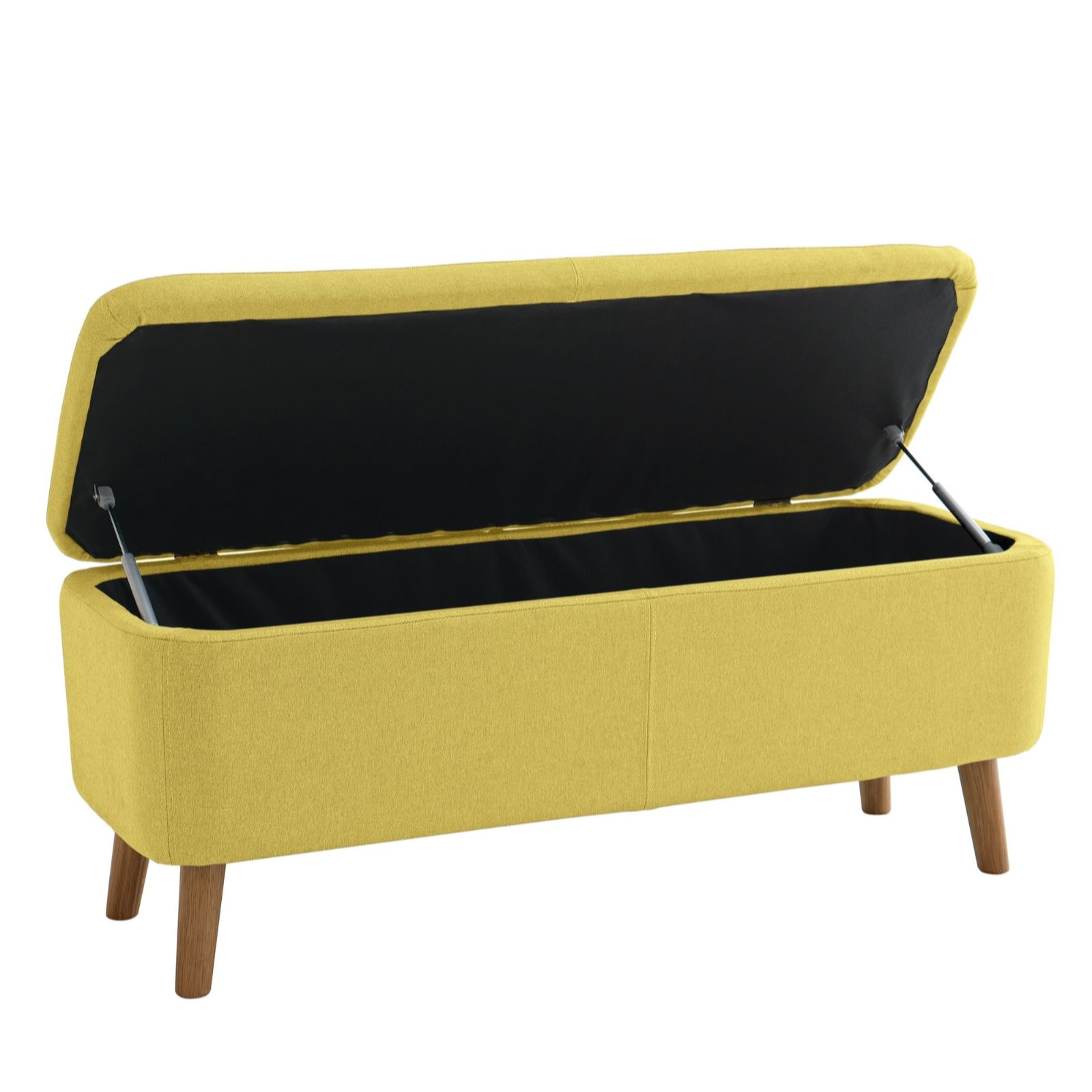 Incredible Habitat Jacobs Saffron Yellow Upholstered Storage Bench Qvc Uk Gmtry Best Dining Table And Chair Ideas Images Gmtryco