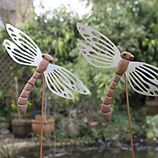 Home 2 Garden Set of 2 Dragonfly Stakes