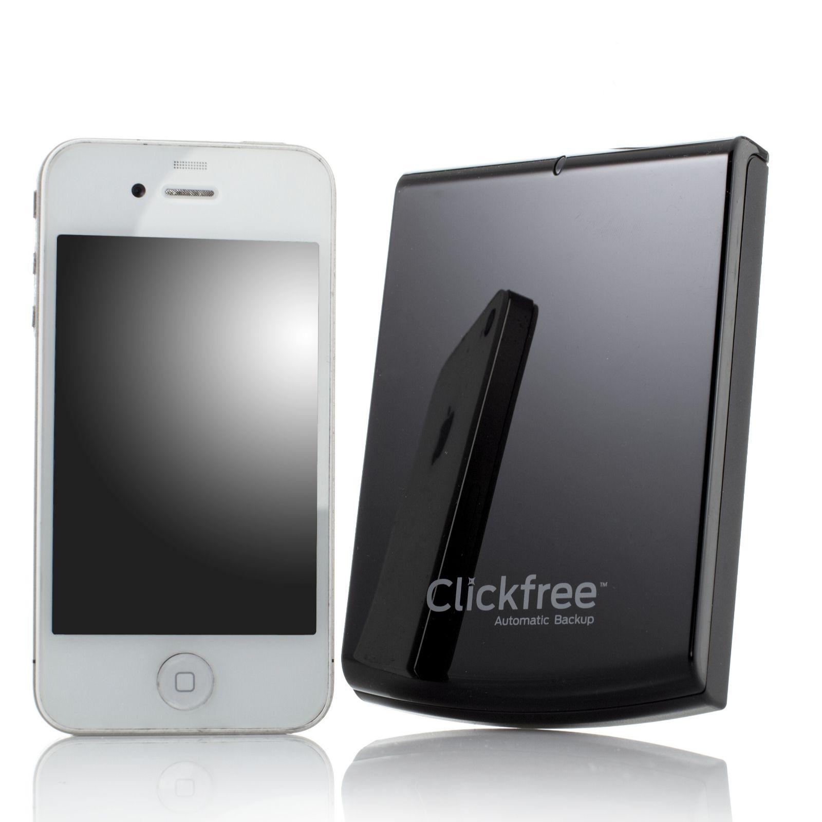 Clickfree C6 750GB File & Software Backup Hard Drive for Multiple PCs &  Gadgets - QVC UK