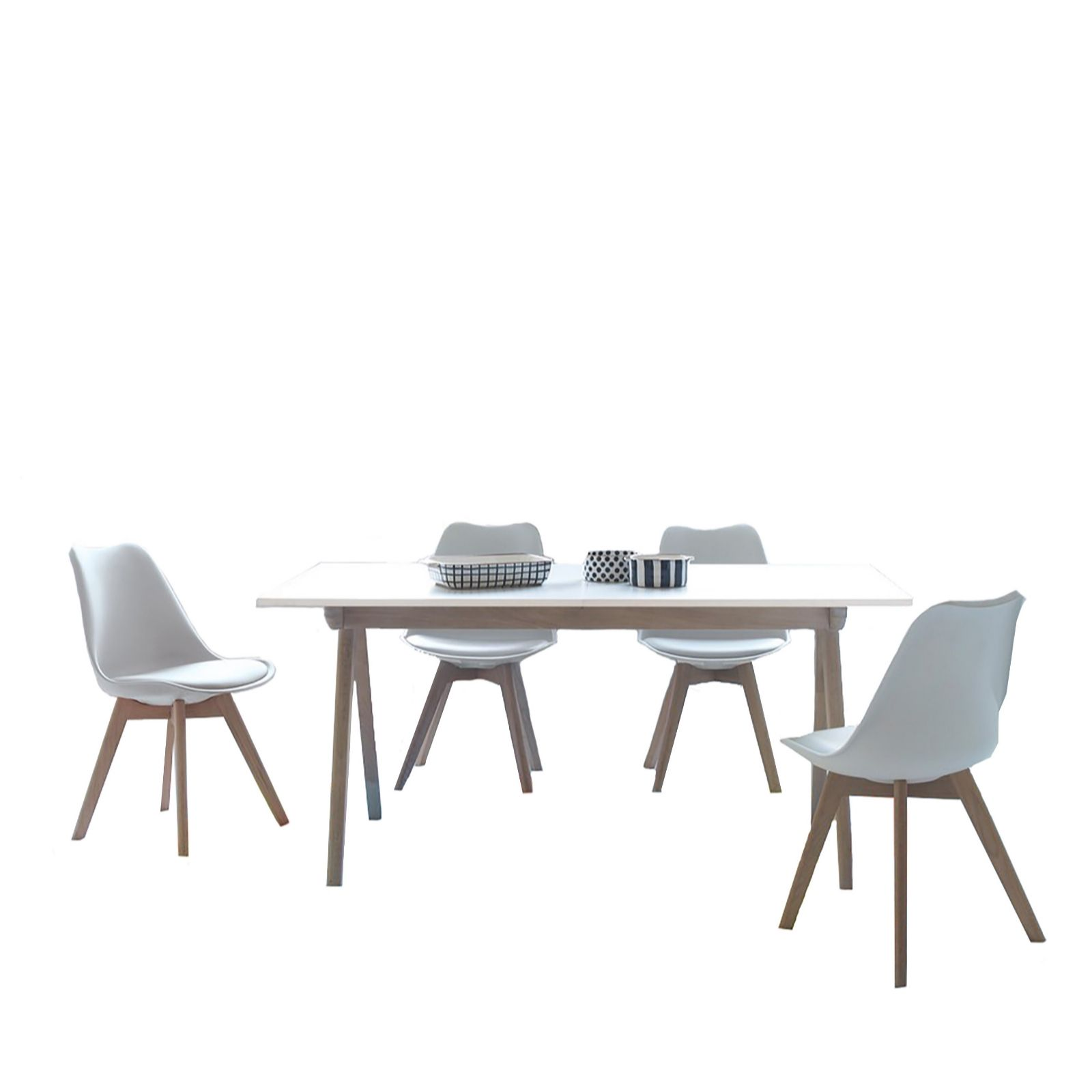 Habitat Jerry White Extending Dining Table 4 Chairs