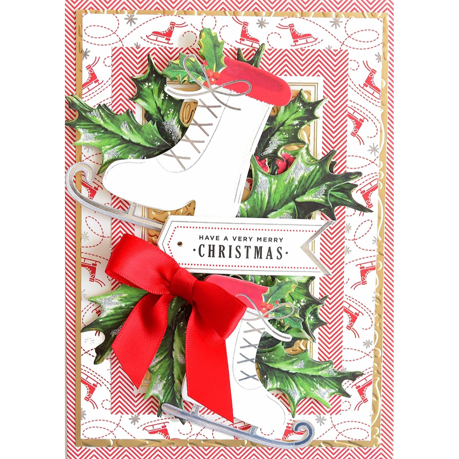Anna Griffin Vintage Christmas 48 Card Making Kit Qvc Uk