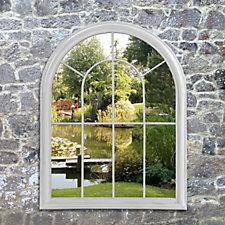 Sun Time Garden Window Mirror