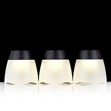 Luxform Set of 3 Turner Wave Plastic Tumbler Lights