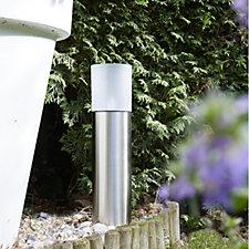 Luxform Frosted Glass Solar Garden Bollard Light