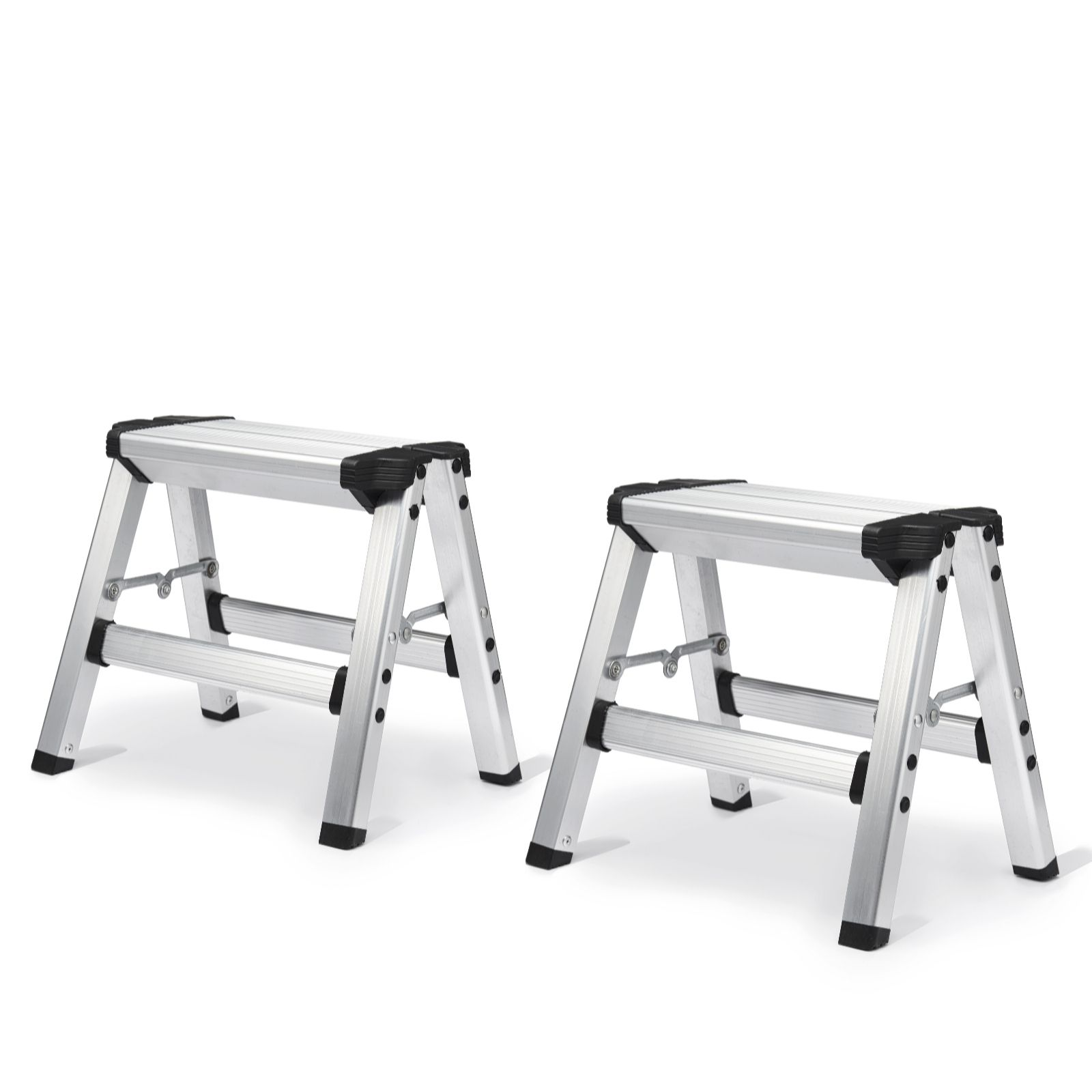 Admirable Buildcraft Set Of 2 Two Step Folding Step Stool Qvc Uk Lamtechconsult Wood Chair Design Ideas Lamtechconsultcom